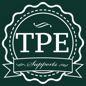 TPE SUPPORTS white on green